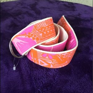Lilly Pulitzer Orange and Pink Belt Size L